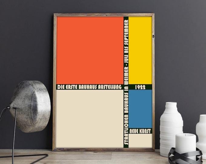 Bauhaus Exhibition Poster 1922 Bauhaus Art