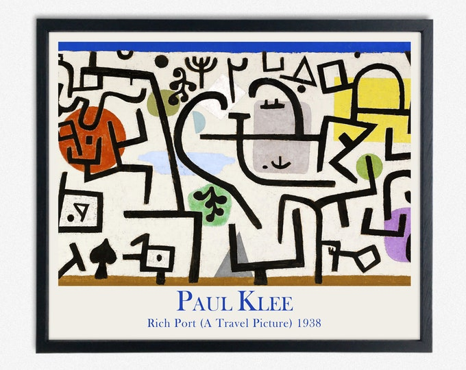 Paul Klee Abstract Painting Rich Port (A Travel Picture) 1938