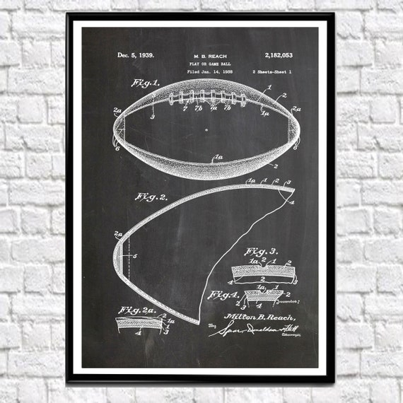 American Football Print American Football Poster NFL Poster Football Wall Art Football Art Football Gift For Football Fan WB044