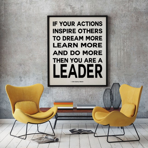 Leadership Quote by John Quincy Adams Leader Gift for Boss Christmas Gift for Boss