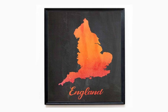 Brexit Map of England Map Brexit Decor