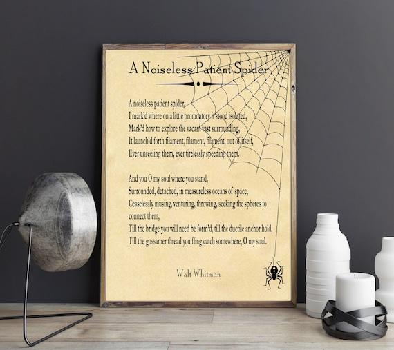 Walt Whitman A Noiseless Patient Spider Poem Print