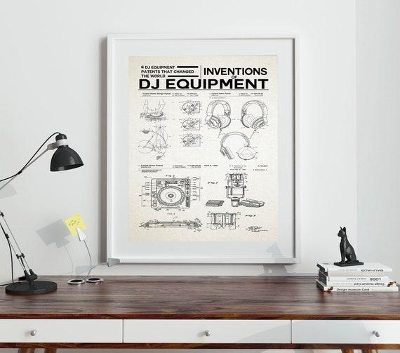 DJ Poster DJ Equipment Inventions Dance Music Poster