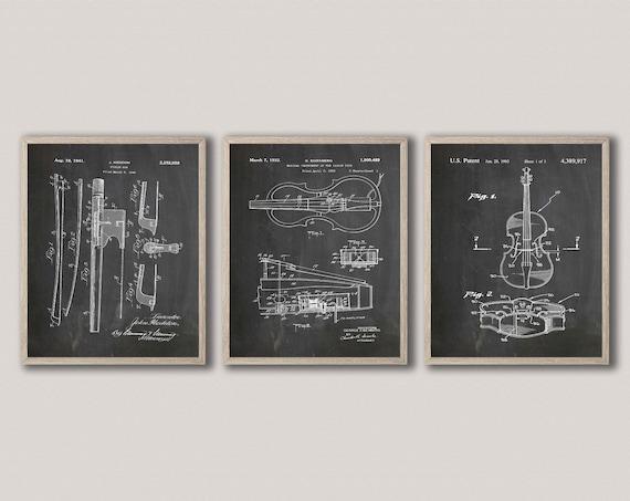 Violin Invention Prints Violin Player Gift For Violinist Music Room