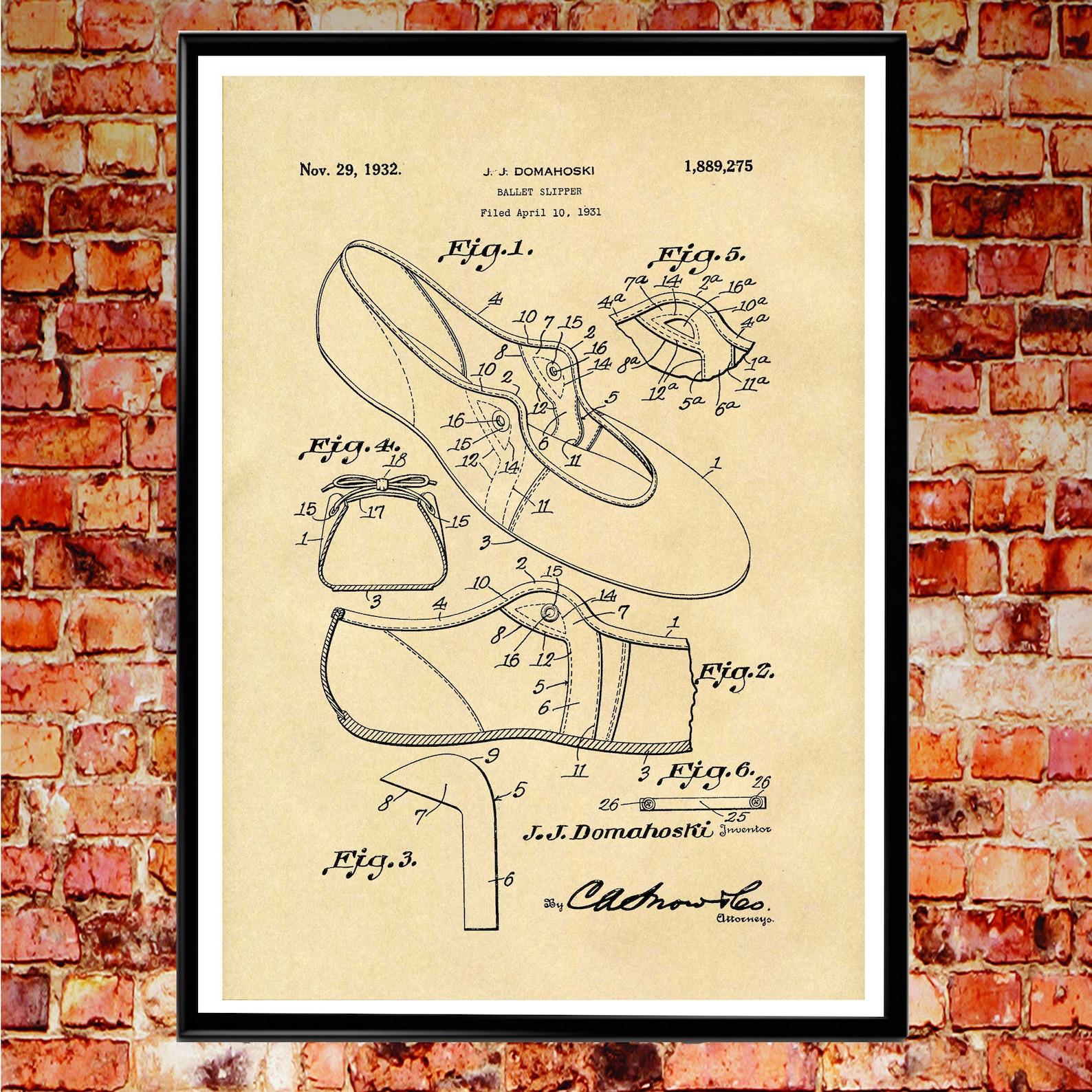ballet shoe ballet slipper ballerina pumps ballerina wall art ballet poster ballerina shoe ballet studio poster 5x7 to 50cmx70cm