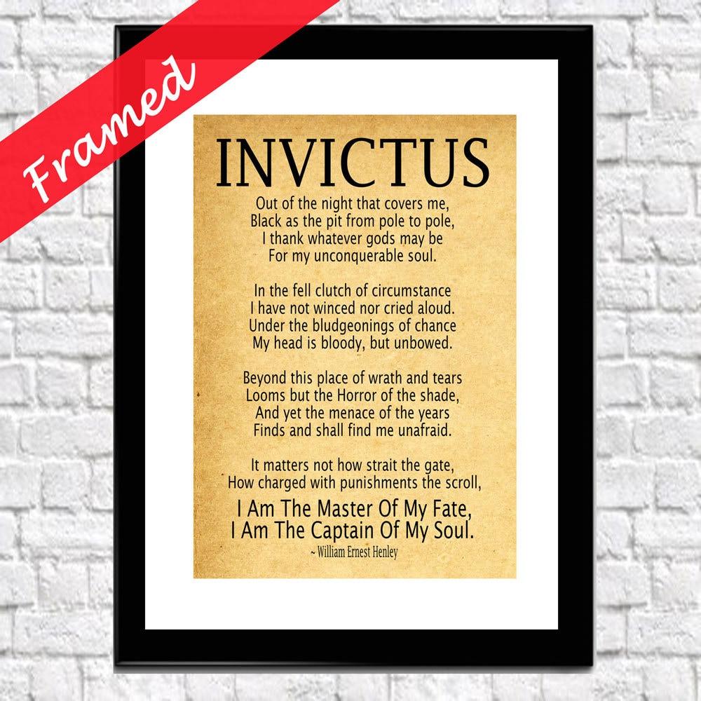 Invictus Gedicht umrahmt Kunstdruck von Henleys | Etsy