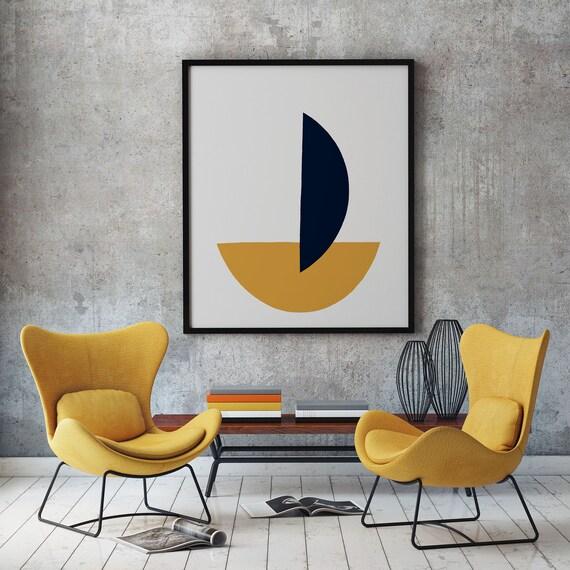 Abstract Geometric Modern Print - Geometric Wall Art - Bauhaus Art