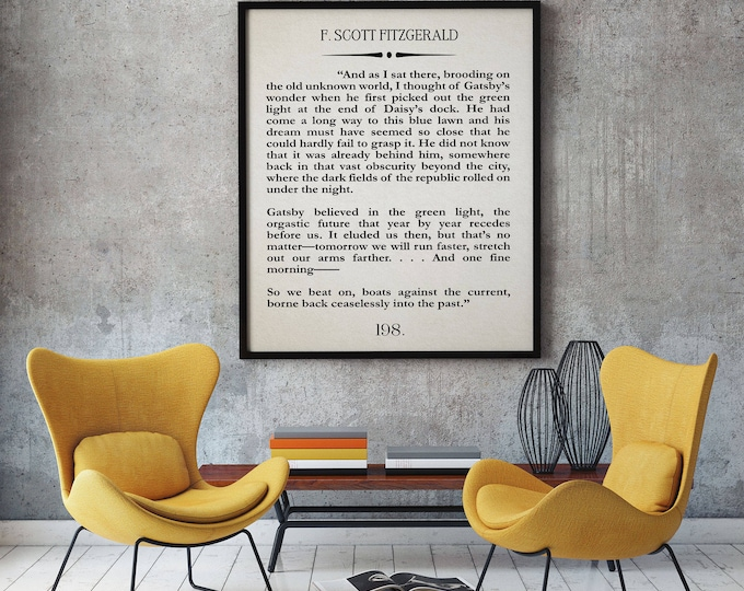 Gatsby Decor The Great Gatsby Last Page Quote