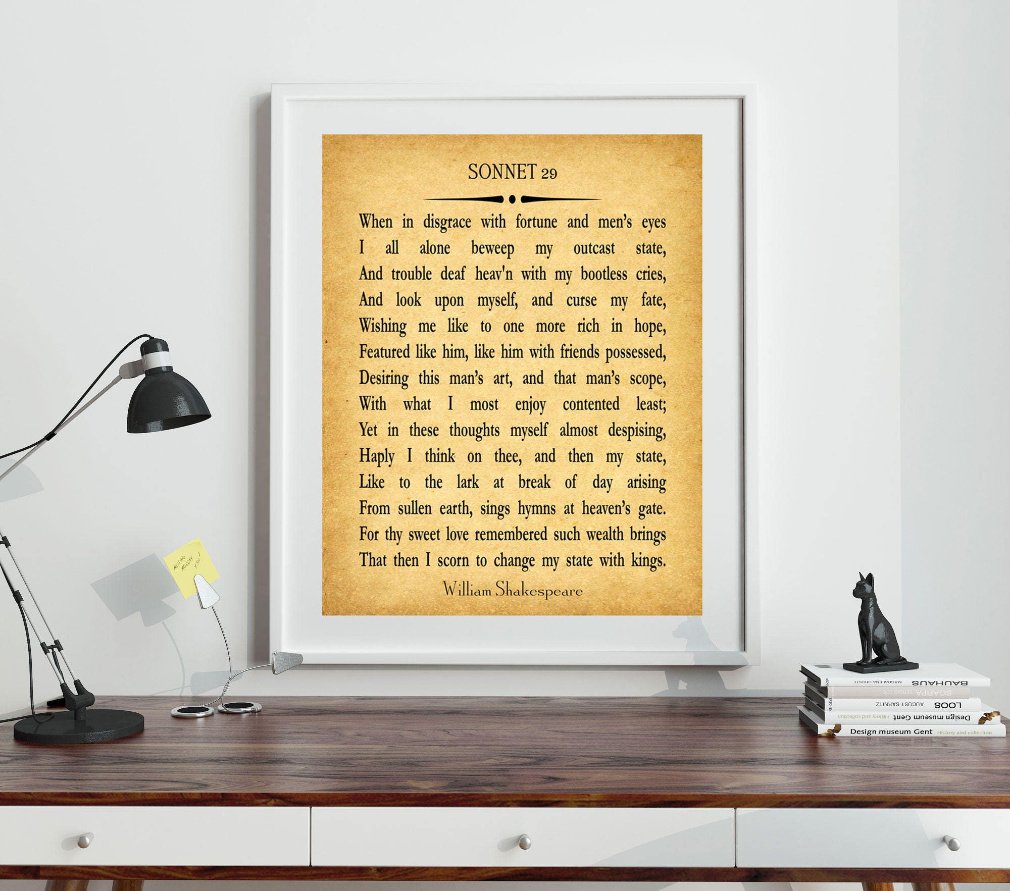 Sonnet 29 by William Shakespeare Poetry Wall Art Poetry Print Poetry ...