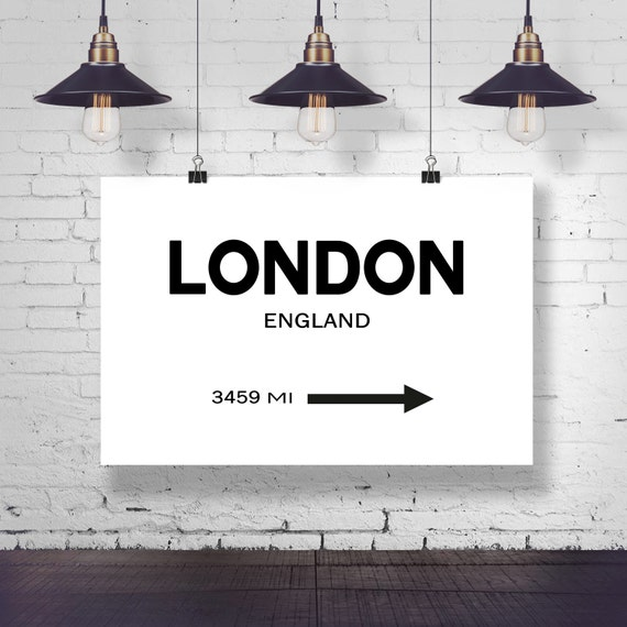 City Sign Wall Art London City Sign London Art London Photo England Wall Art City Wall Art Personalized Signpost