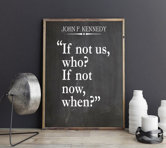 JFK Quote JFK Poster John F Kennedy Presidential Speech