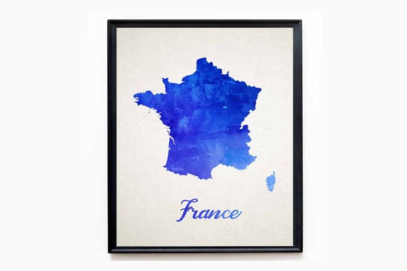 Map of France Map Watercolor French Map