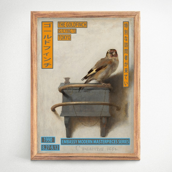 The Goldfinch Japanese Museum Exhibition Art Japan Print