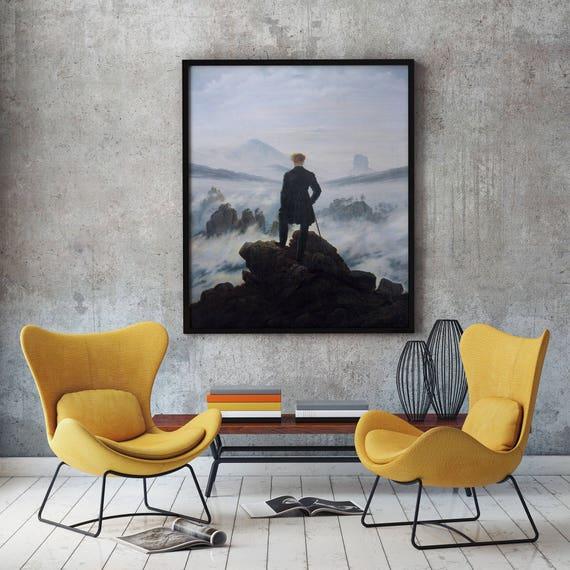 Wanderer Above The Sea of Fog by Caspar David Friedrich 1818 Solitude Poster Solitude Wall Art Explorer Poster Exploration Poster Fog Poster