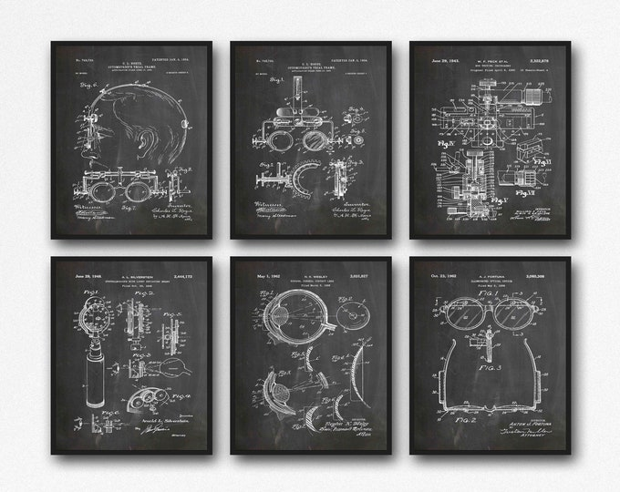 Optician Inventions Optician Wall Art Optometry Prints