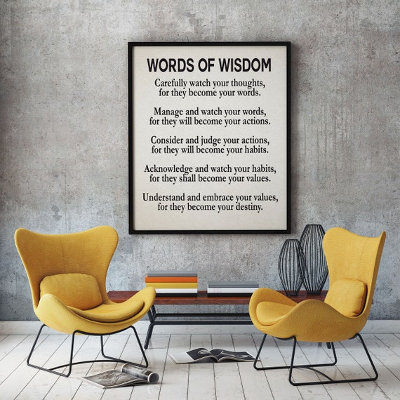 Wisdom Poem Wisdom Quote Poetry Poster Large Poetry Wall Art Poetry Print Oversize Quote Poster Life Poster Life Quote Inspirational Quote