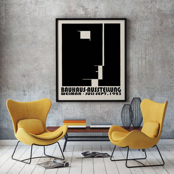 Bauhaus Exhibition Poster 1923 Bauhaus Decor