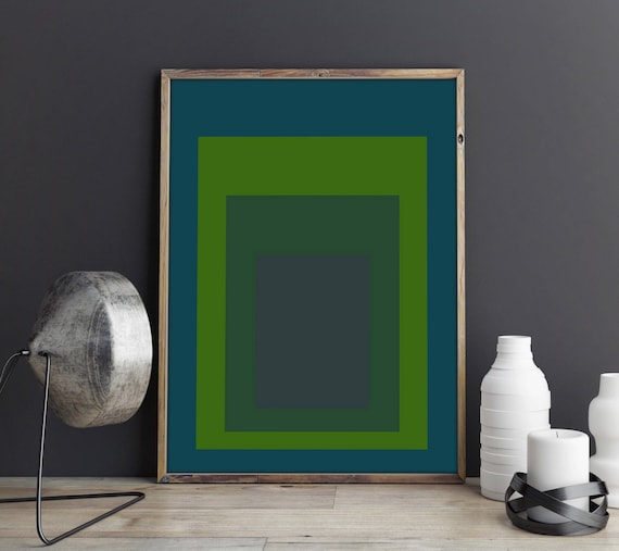 Green Abstract Poster Art Abstract Decor Green Decor Abstract Modern Mid Century Modern Poster Scandinavian Poster Interior Design Poster