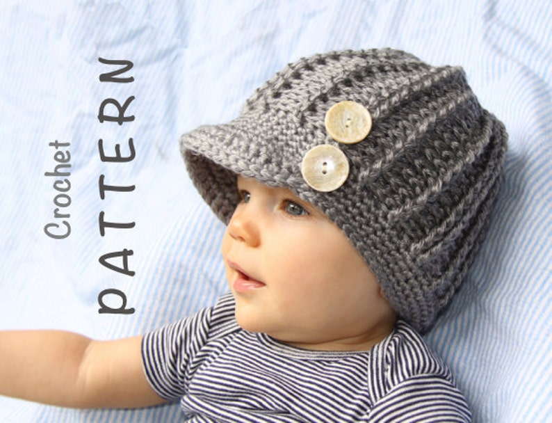 f7f4266f8a8 Crochet Hat Pattern for Girl or Boy Hat with Visor Newsbody
