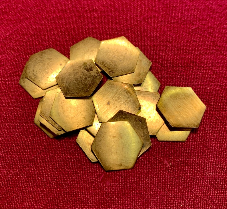 19mm and 25mm Brass Hexagon Blanks