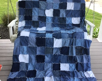Upcylced denim quilt
