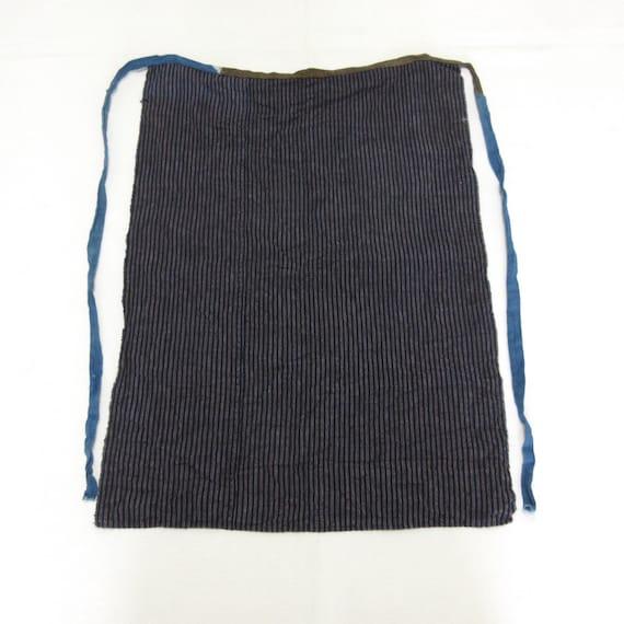 Vintage indigo maekake / Vintage japanese apron /