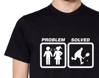 aa4851c5c4 SOLVED TENNIS Funny T-shirt PROBLEM gift idea for men tee shirt
