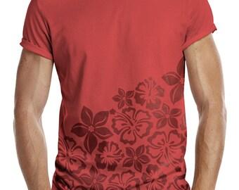 10ac007d4f520 Distinkt Youth Hawaiian Half Print All Over Mens Fashion T Shirt Holiday  Hawaii Pineapple Tropical Swag Hipster Ibiza Summer