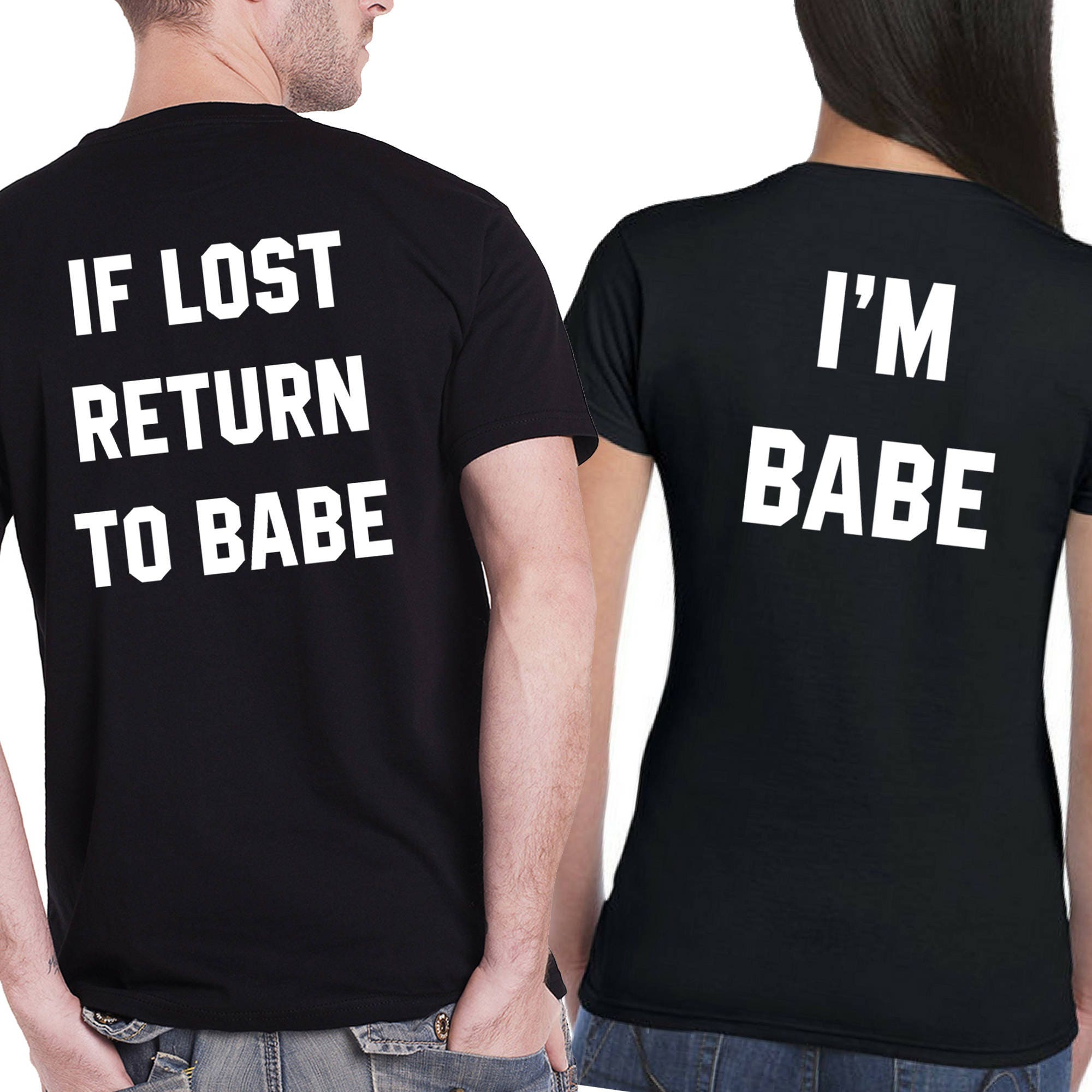 697027d1 Matching If Lost Return to Babe T Shirts Matching Tops Cute | Etsy