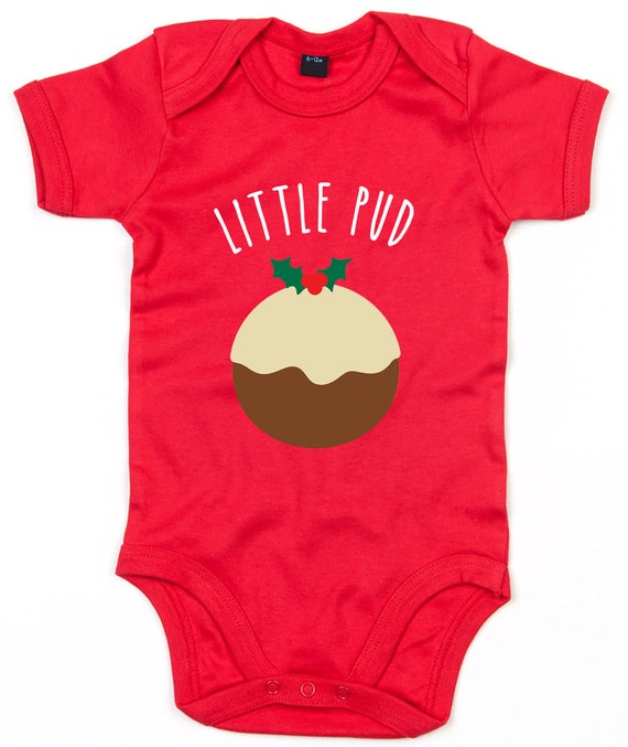 Christmas Pudding Baby Outfit.Little Pud Baby Grow Christmas Pudding Babygrow Cute Xmas Babygrow Christmas Romper Baby Christmas Outfit Baby Shower Gift L136