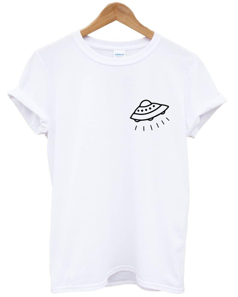c7f77124889fe UFO Shirt - UFO Tshirt - Spaceship Shirt - Logo Planet Alien Stars Moon  Travel Universe Spaceship Cute Explorer Moon L62