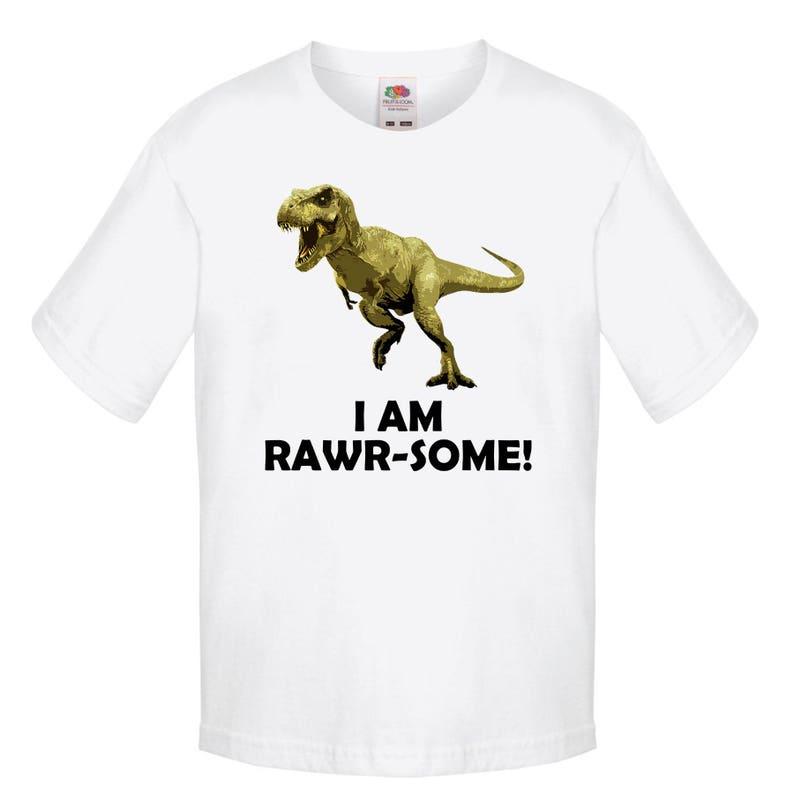 088736db0 I Am Rawrsome T-Shirt Funny Dinosaur T-Shirt Cartoon | Etsy