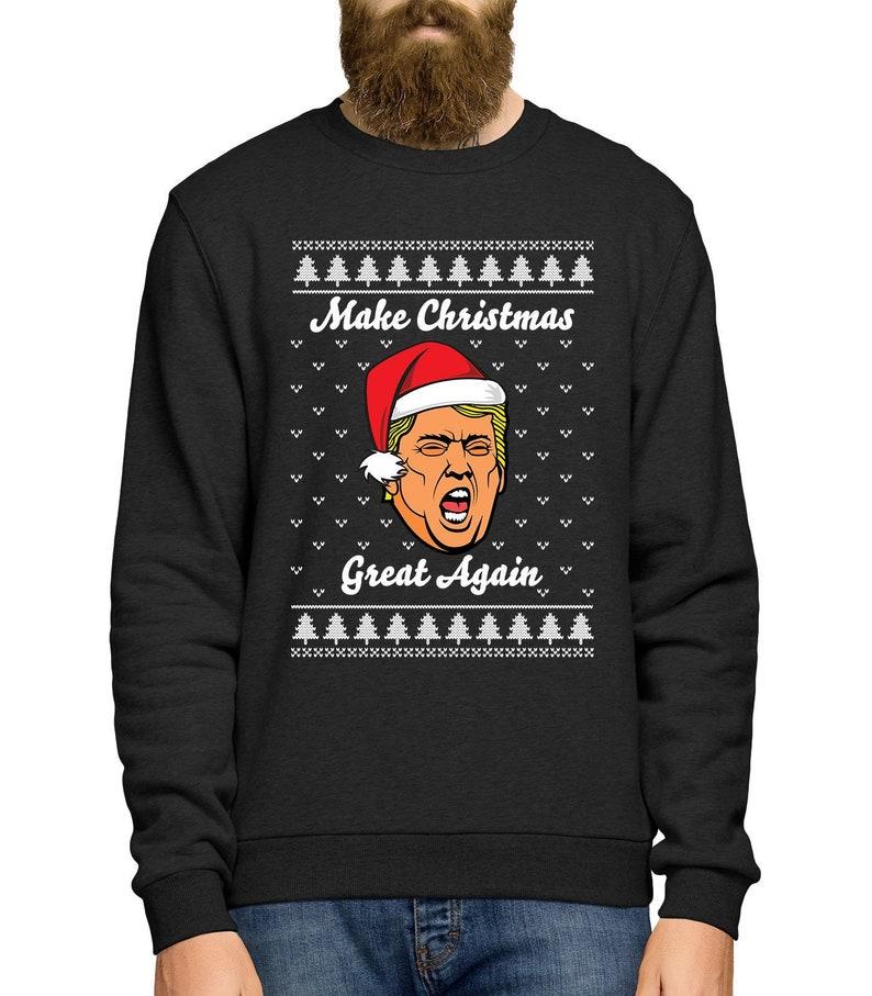 a96ebad6a7f0b Make Christmas Great Again Jumper Trump Sweater Ugly