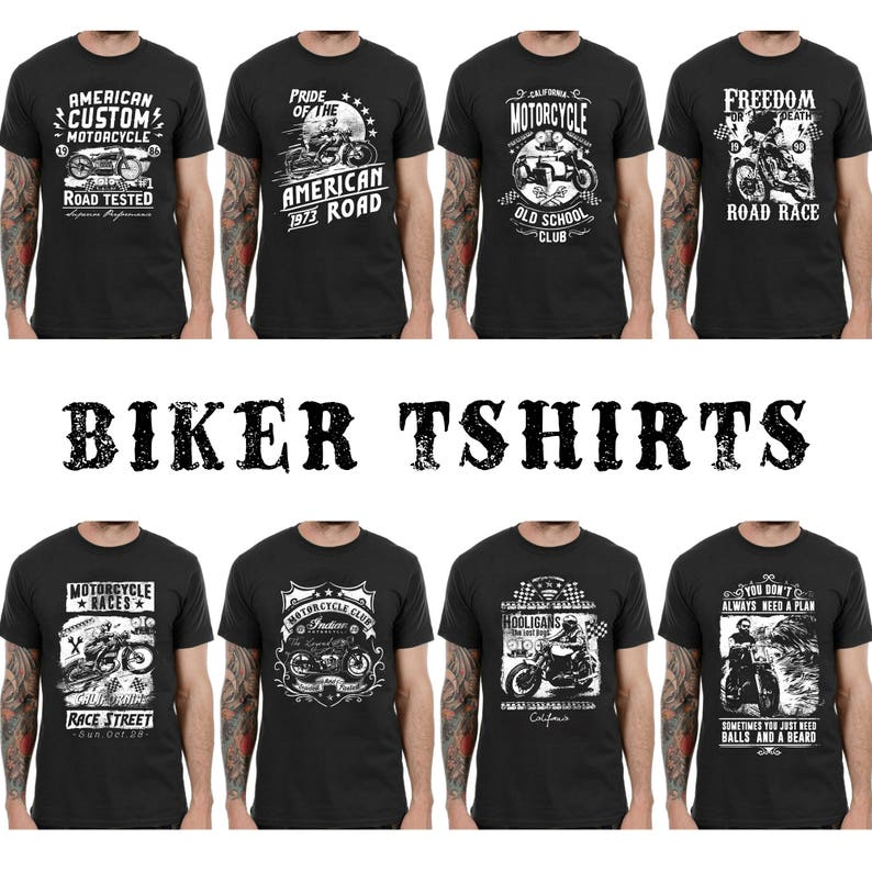 26a6ba85c Biker T-Shirts Motorcycle Graphic Shirts Biker Gifts Men | Etsy