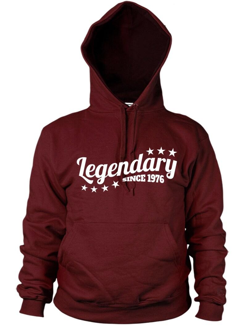 Legendary Since 1976 Hoodie Funny Birthday Present Gift legend Mens kids Hoody