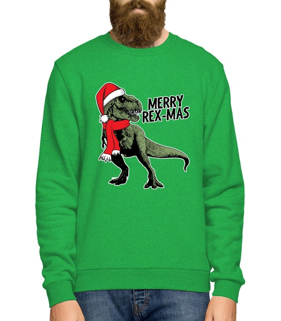 Dinosaur Christmas Sweater.T Rex Christmas Jumper Dinosaur Christmas Sweater Merry Rex Mas Jumper Ugly Christmas Jumper Ugly T Rex Sweater Mens Ladies Kids L359
