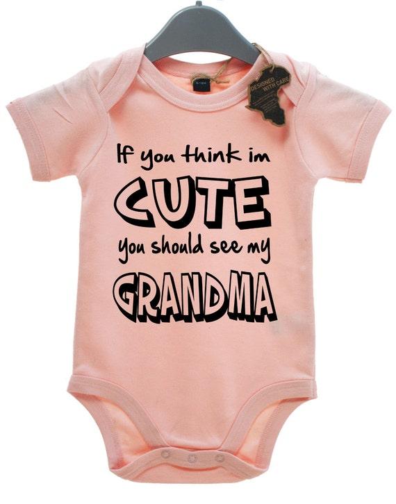 I Get My Good Looks From My Grandma BabyGrow Boy//Girl//Unisex