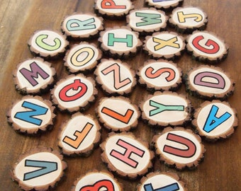Hand-painted Wooden Alphabet - Uppercase