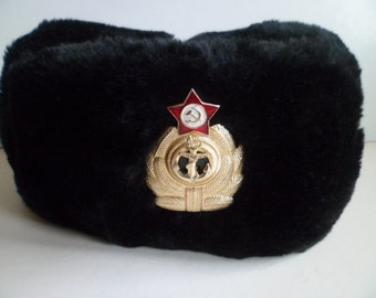 fb1675d3b1d Soviet Army Navy Military Force Officer s winter - ushanka hat. Made of  high grade materials