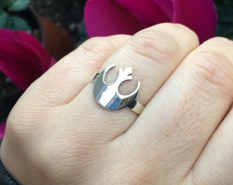 Star Wars Rebel Alliance Ring in sterling silver 925 and handmade