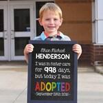 Adoption Day, Adoption Gifts, Adoption chalkboard sign, Adoption Sign, Adoption Art, Adoption Print, DIY edit in ADOBE READER