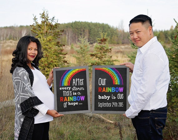 rainbow baby pregnancy announcement pregnancy reveal after a etsy