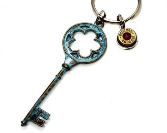 Bullet keychain large key with 40 S&W