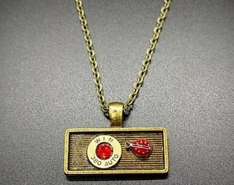 Ladybug bullet necklace