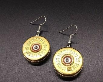 12 gauge shotgun shell dangle earrings