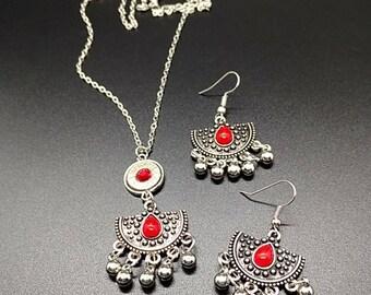 Boho bullet jewelry set