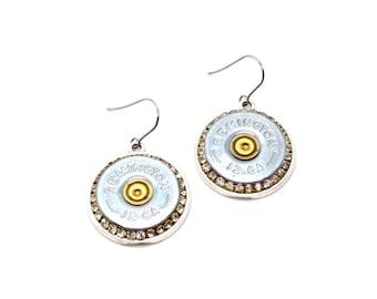 12 gauge shotgun shell earrings