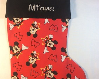Disney Mickey Mouse Personalized Christmas Stocking