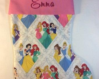 Disney Princesses Personalized Christmas Stocking