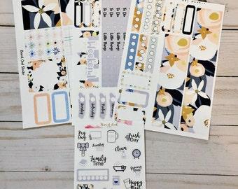Watercolor Floral EC Vertical Mini Weekly Kit - Bundle Option
